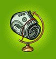 globe international a bundle hundred-dollar vector image vector image