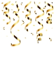 Golden confetti isolated vector image vector image