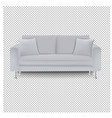 grey sofa bed with isolated transparent background vector image vector image