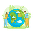 happy earth day nature care ecology filled vector image