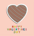 happy valentines day card holiday vector image vector image