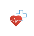 Healthcare and medical logo and icon concept heart vector image vector image