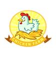 hen in nest vector image vector image