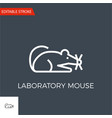 laboratory mouse icon vector image vector image