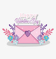 loe card to valentine day celebration vector image vector image