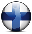 Map on flag button of Republic of Finland vector image vector image