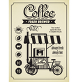 mobile coffee shop vector image vector image