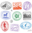 monument stamps vector image vector image