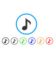 musical note rounded icon vector image vector image