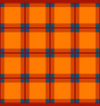 Orange red blue tartan seamless background vector image