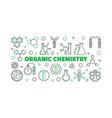 organic chemistry outline banner vector image