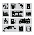 petrol icons vector image vector image