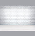 realistic brick wall wooden floor room vector image