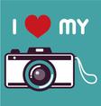 Retro camera poster vector image vector image