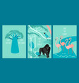 save jungle save planet set vector image