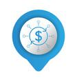 saving money icon cartoon vector image