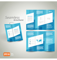 seamless brochure design template vector image vector image