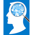 searching the network in human head vector image
