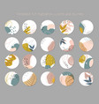 set highlight covers abstract vector image vector image