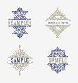 set line art decorative geometric frames and vector image
