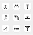set of 9 editable trip icons includes symbols vector image vector image