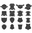 set shields logo vector image