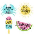 set summer emblems vector image