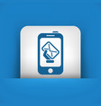 smartphone mail icon vector image