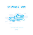 sneakers icon isolated on white vector image vector image