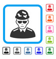 swat soldier framed sadly icon vector image vector image