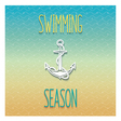 Swimming season design vector image