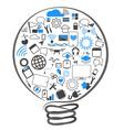 symbol lamp ideas technology vector image