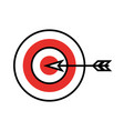 target goal with dart isolated icon vector image vector image
