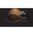 tennis racket and slogan vector image vector image
