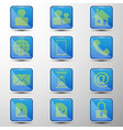 the set of web buttonsdifferent symbols vector image vector image