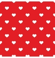 Tile pattern with white hearts on red backgrond vector image vector image