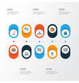 trade colorful outline icons set collection of vector image vector image