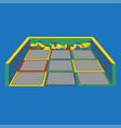 trampoline for children gymnastic sport vector image vector image