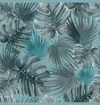 tropical palm leaves jungle leaves pattern vector image vector image