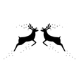 Two reindeer with stars vector image vector image
