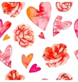 Valentines day backgroundSeamless pattern of vector image vector image