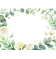 watercolor card with eucalyptus leaves and vector image vector image