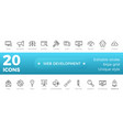 web development icons set outline style vector image vector image