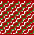 white green red zigzag seamless pattern vector image