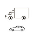 container truck icon vector image