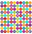 100 web development icons set color vector image vector image