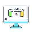 360 degree view video rgb color icon