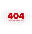 404 error web page oops error page vector image vector image