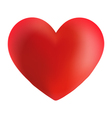 A Red Valentine Heart Icon vector image vector image