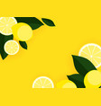 abstract lemon background vector image vector image